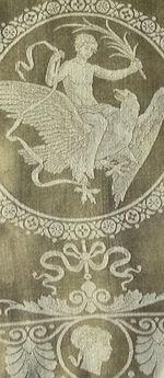 vintage antique silk-linen figural damask napkins