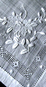 8 vintage napkins exquisite whitework
