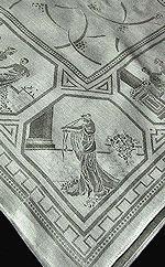 vintage figural damask tablecloth grecian