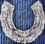 vintage antique collar Limerick and Brussels lace
