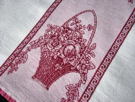 vintage damask towel