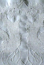 vintage figural lace table runner dresser scarf