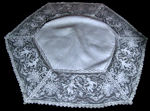 vintage antique figural lace table topper