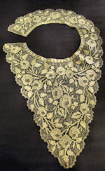 vintage antique victorian lace collar roses
