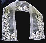 vintage antique victorian collar point de paris lace ayrshire whitework