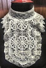 vintage antique dickey collar combination lace