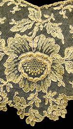 vintage antique victorian collar dress insert Alencon lace