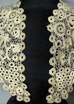 vintage antique victorian handmade Irish lace collar