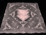 vintage pink organdy tablecloth and napkins