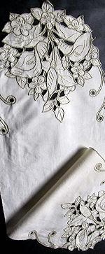 antique table runner dresser scarf handmade lace