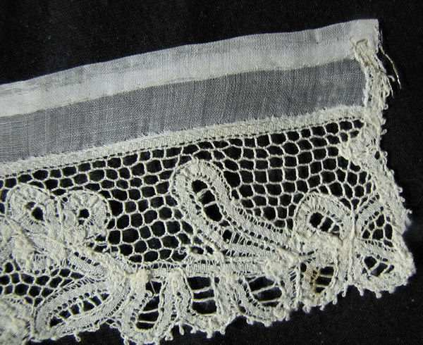close-up lace on vintage cuffs
