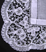 vintage antique brussels lace table topper