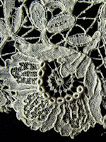 antique handmade Belgian lace trim