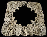 antique handmade Belgian lace collar