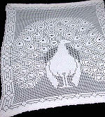 vintage figural lace curtain