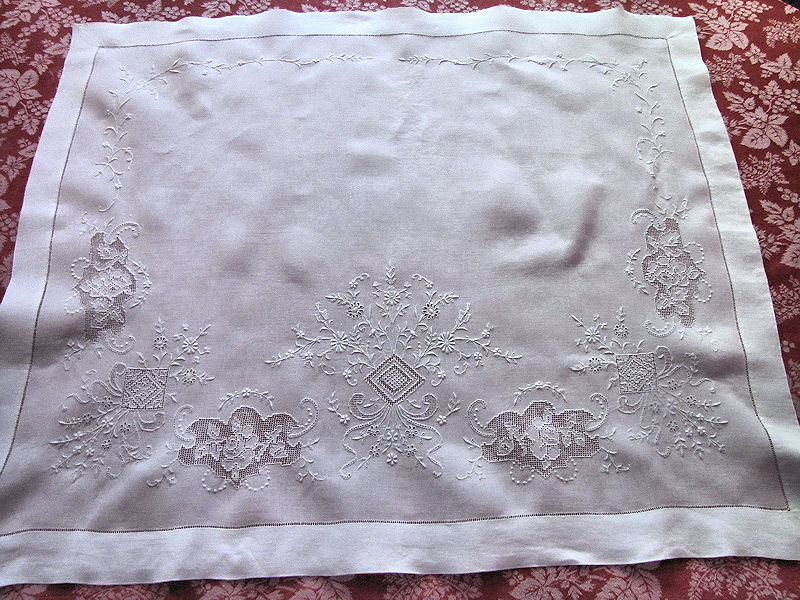 vintage antique pair layover pillow shams with handmade lace and whitework embroidery