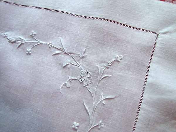 close up 4 vintage antique pair layover pillow shams with handmade lace and whitework embroidery