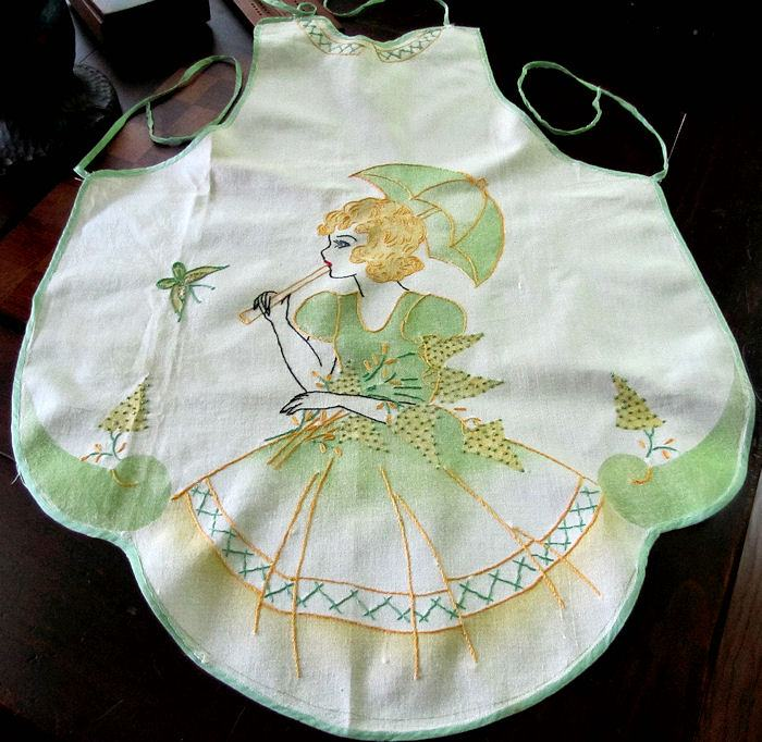 vintage southern belle apron
