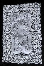 6 vintage white linen placemats cantu lace