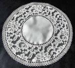 vintage antique alencon lace doily