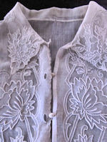vintage antique victorian handmade lace dickey collar