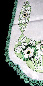vintage antique society silk table runner dresser scarf