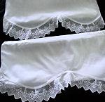 pair vintage envelope pillowcases lace