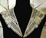 vintage antique victorian figural lace collar
