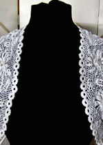 vintage antique victorian handmade Irish lace cape
