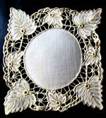 vintage doily handmade cutwork lace society silk embroidery