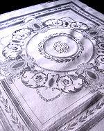 11 vintage figural damask white dinner napkins