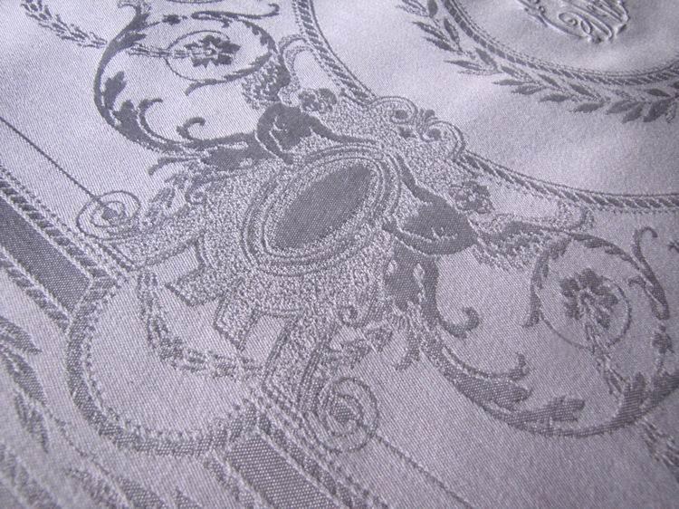 close up set vintage dinner napkins figural damask cherubs