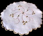 vintage linen doily society silk embroidery