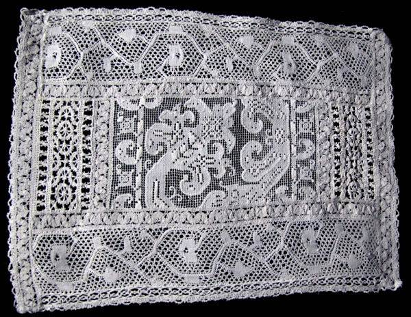 vintage antique doily with mixed handmade laces,      style=