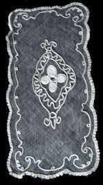 vintage antique tambour lace doily