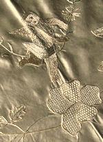 vintage layover pillow sham figural lace cherub