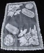 vintage antique table runner dresser scarf samples of lace
