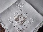 vintage figural lace dinner napkins