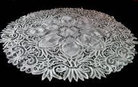 vintage antique battenberg lace tablecloth