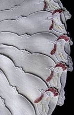 10 vintage marghab rooster cocktail napkins