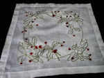 vintage antique society silk table topper holly