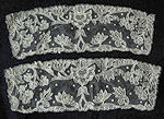 pair antique victorian carrickmacross lace cuffs