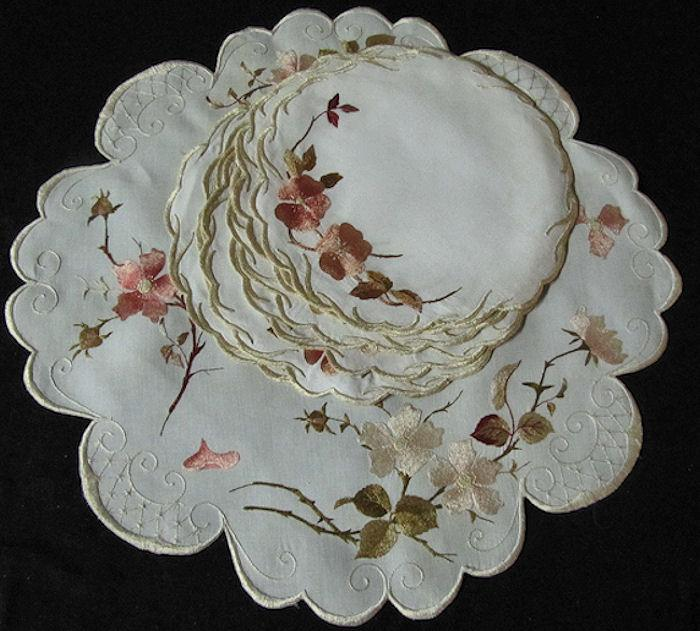antique society silk placemats set