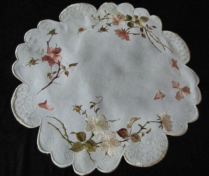 centerpiece doily of society silk placemats set