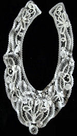 vintage antique Brussels lace collar