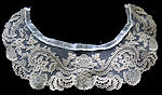 vintage antique dress collar Limerick lace