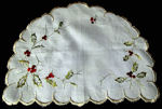 vintage linen doily society silk embroidery
