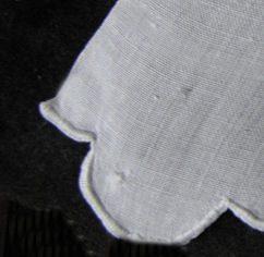 vintage antique wedding towel mend