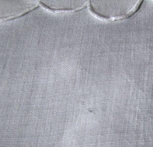vintage antique linen wedding towel hole
