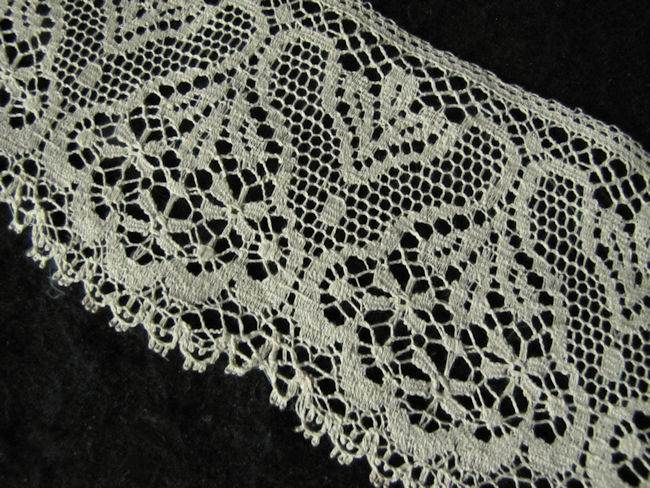 vintage antique lace trim close-up